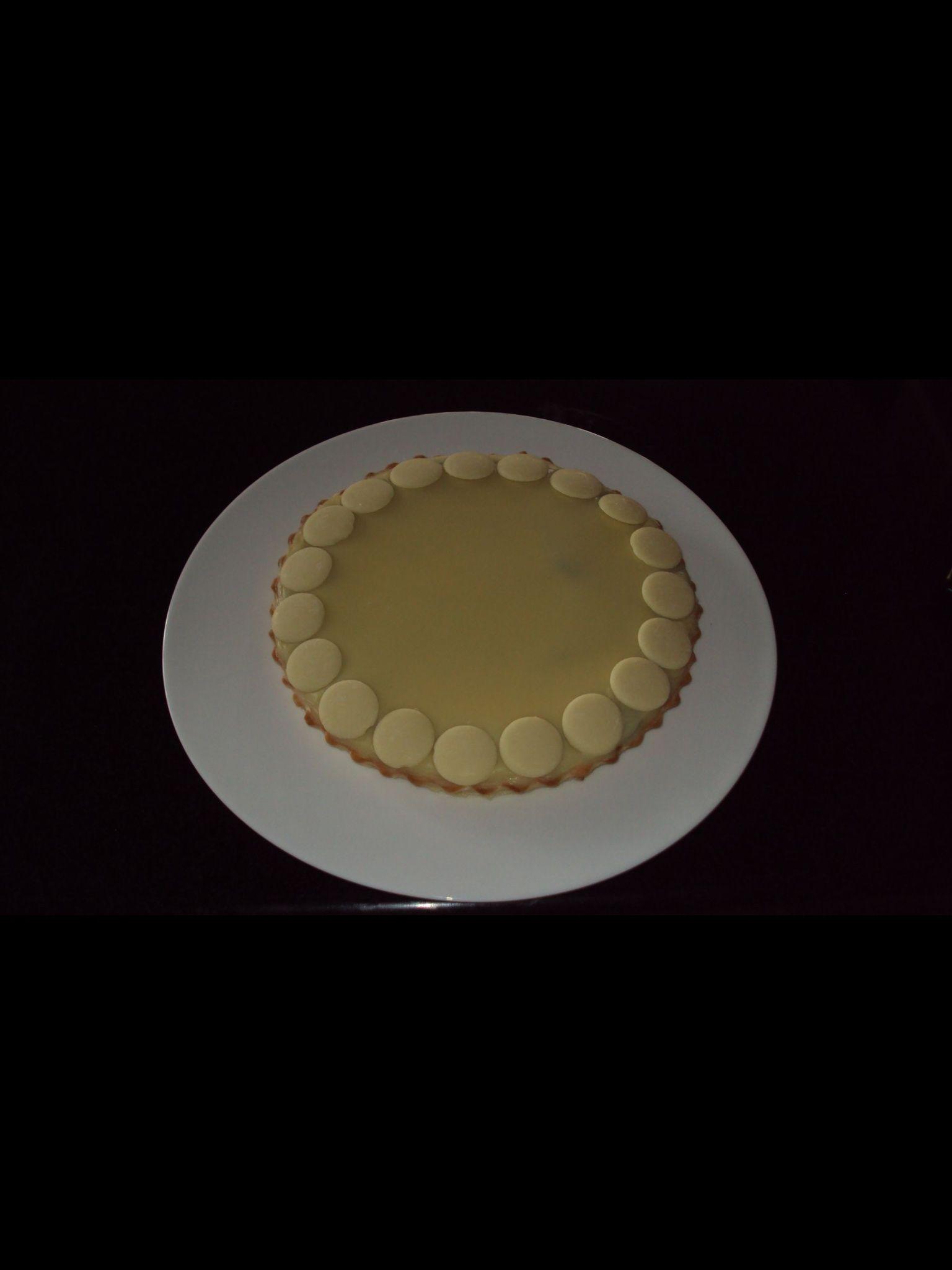 Tarta de Nutella con baño de chocolate blanco