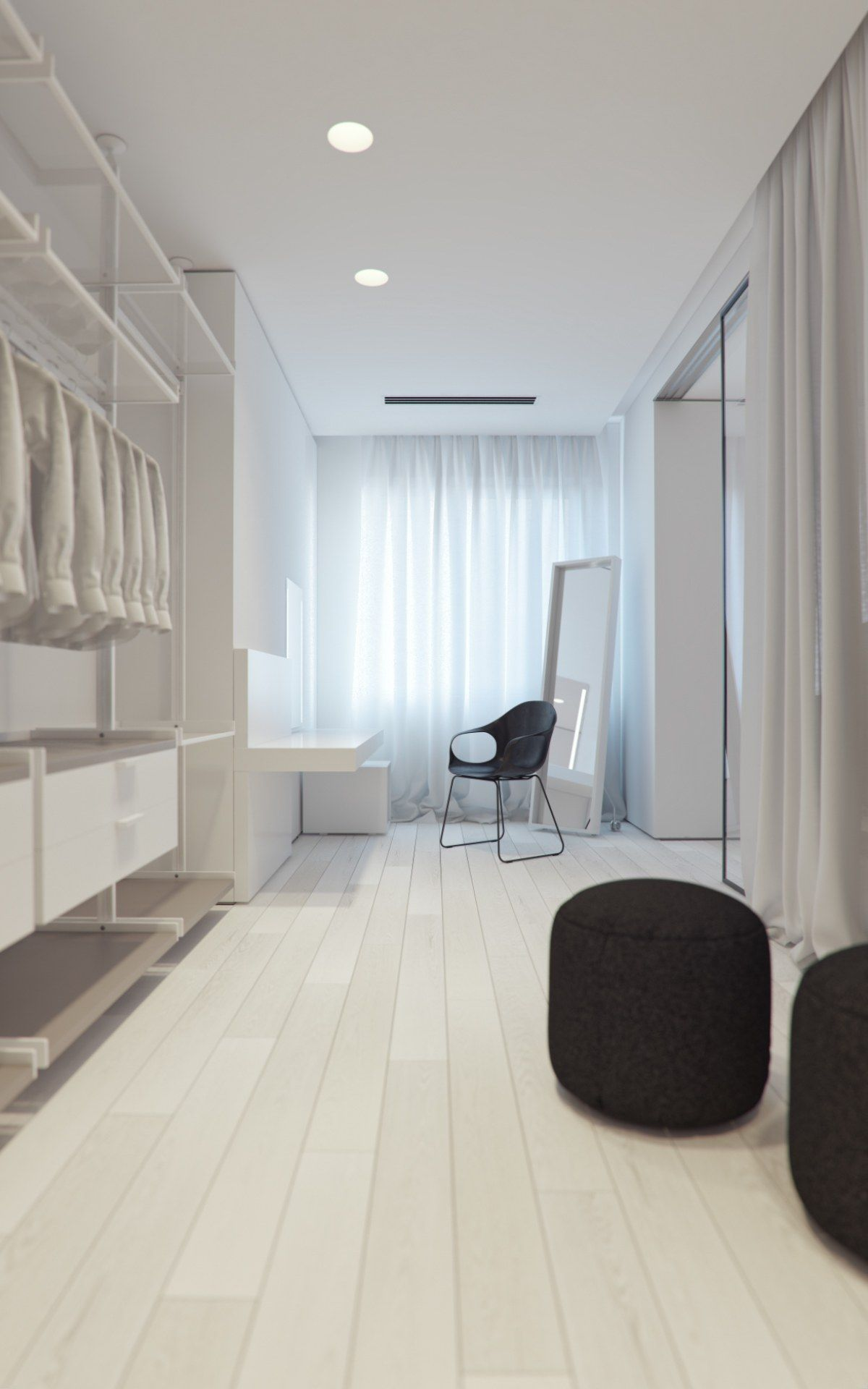 Best 3 White Themed Homes With Striking Modern Minimalist 400 x 300
