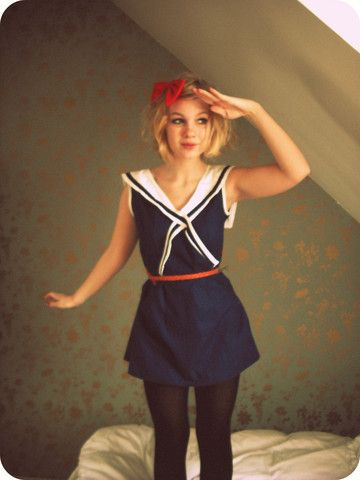Halloween this year? I like the belt and how ideas. Would go well with my sailor dress