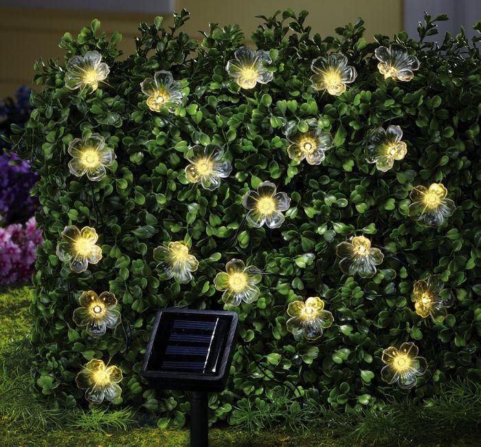 Solar Flower Outdoor Garden String Lights
