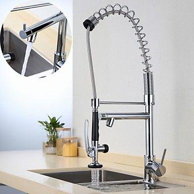 deckenmontiert Einhand Ein Loch with Chrom Armatur für die Küche - armatur küche ausziehbar