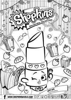 Shopkins Coloring Pages Season 1 Lippy Lip Shopkins Colouring
