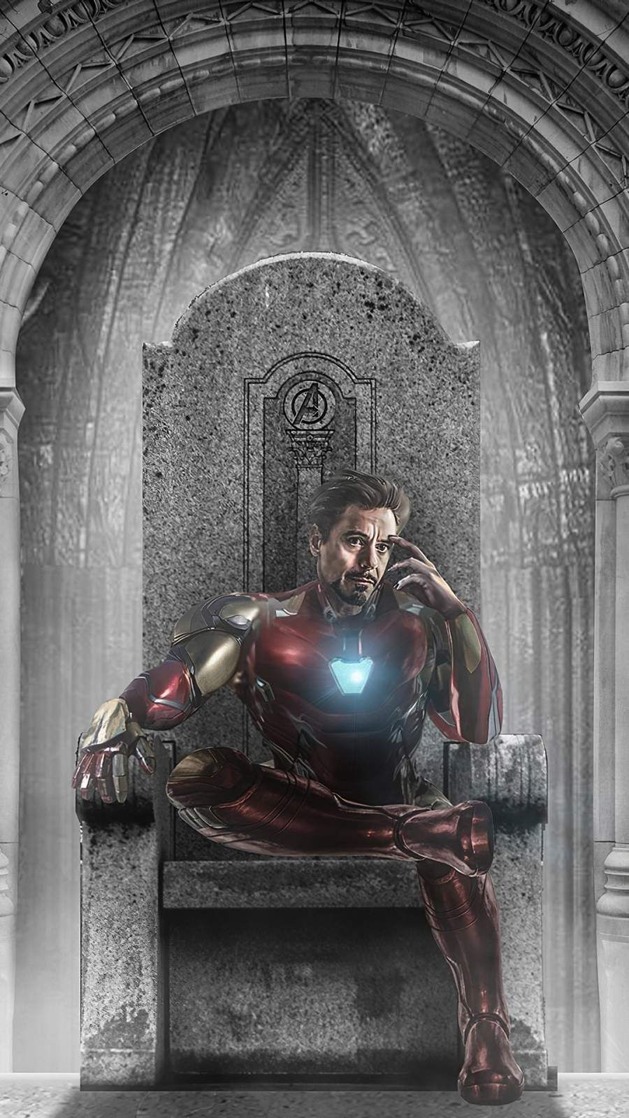 Iron Man Throne iPhone Wallpaper