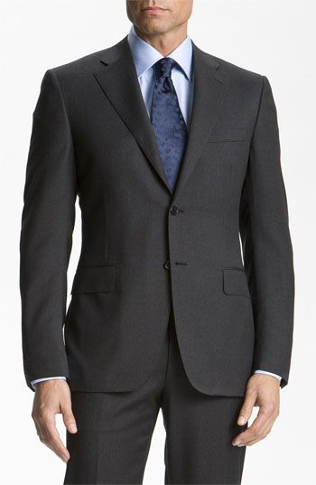 d9e5ccc02f19b1 Canali wool suit | My Style | Suits, Wool suit, Mens charcoal suit