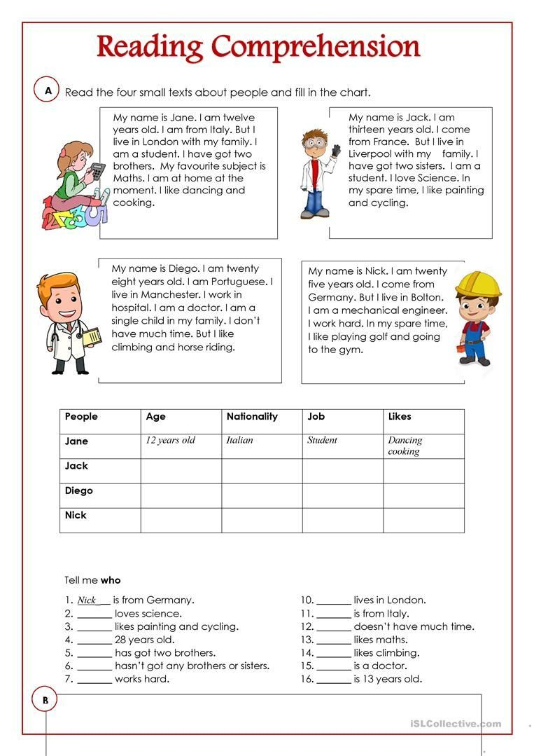 An Activity To Practice Reading And Comprehension Ther Free Reading Comprehension Worksheets Reading Comprehension Activities Reading Comprehension Worksheets [ 1079 x 763 Pixel ]