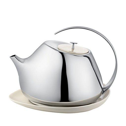 $Georg Jensen Helena Teapot with Coaster - Bloomingdale's