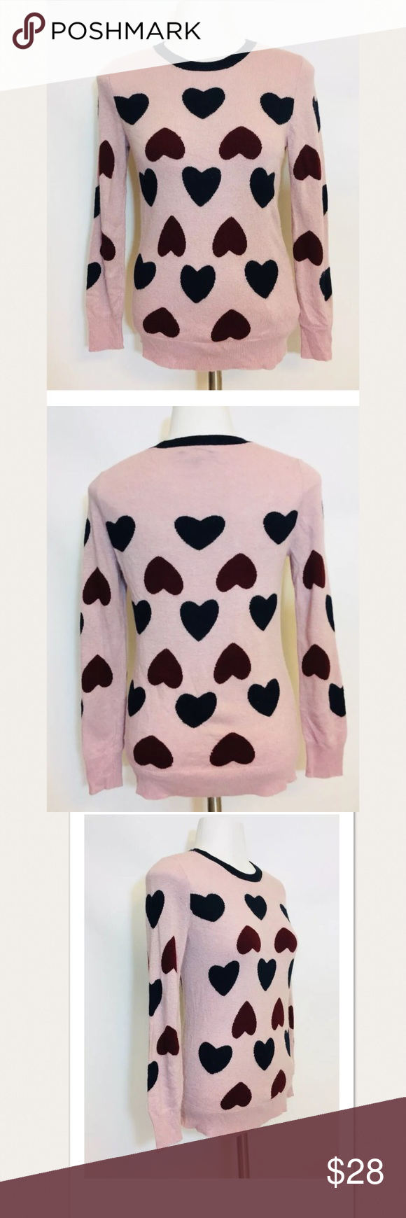 J. Crew size XS Purple Hearts Wool Blend Sweater Slight piling otherwise great condition  Measurements laying flat  Bust 17 in Length 23 in J. Crew Sweaters Crew & Scoop Necks
