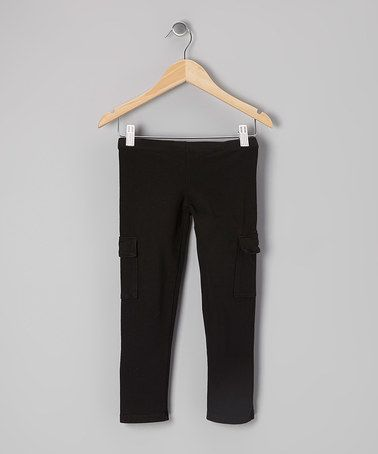 Look what I found on #zulily! Black Flap Pocket Jeggings #zulilyfinds