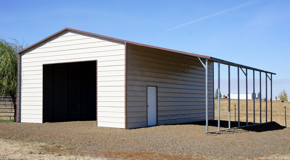 20 X 31 X 12 Boxed Eave In 2020 Metal Buildings Deck Railing Design Metal Garages