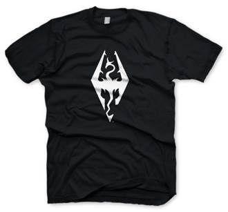 Gamer heaven - The Elder Scrolls V Skyrim Official Dragon Symbol T-Shirt, $26.86 (http://www.gamer-heaven.net/the-elder-scrolls-v-skyrim-official-dragon-symbol-t-shirt/)