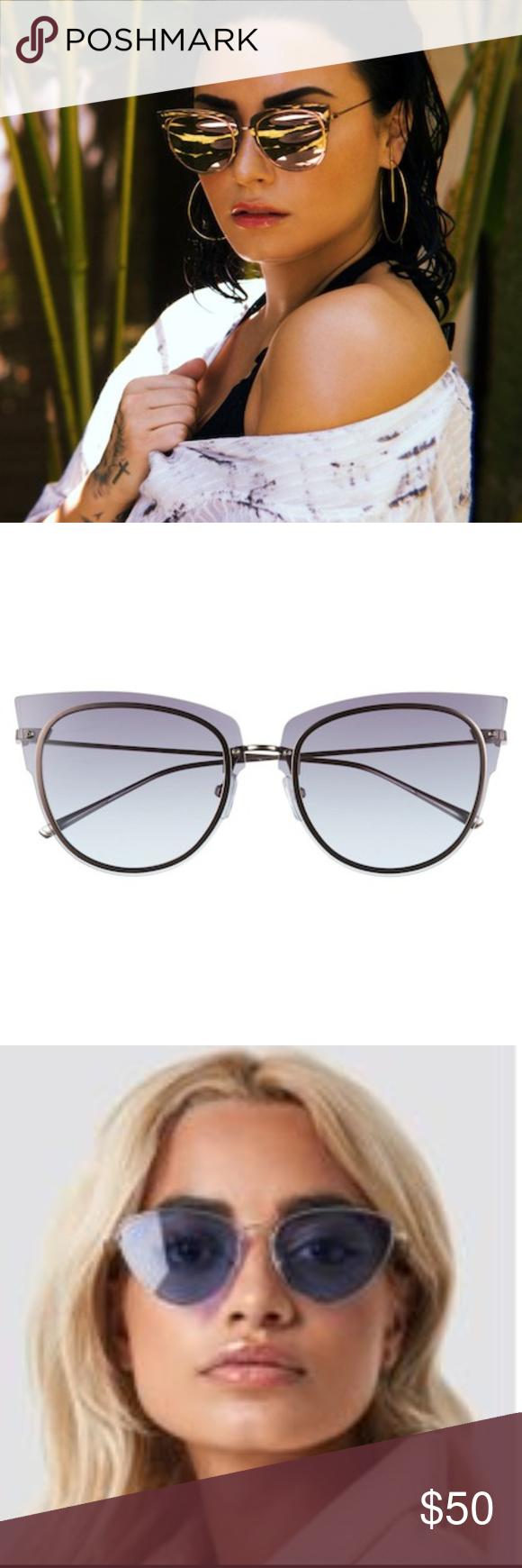 afbe356acc DIFF x Demi Lovato 50mm Rimless Cat Eye Sunglasses DIFF x Demi Lovato DEMI  50mm Rimless Cat Eye Sunglasses. Rose Gold Purple. New.