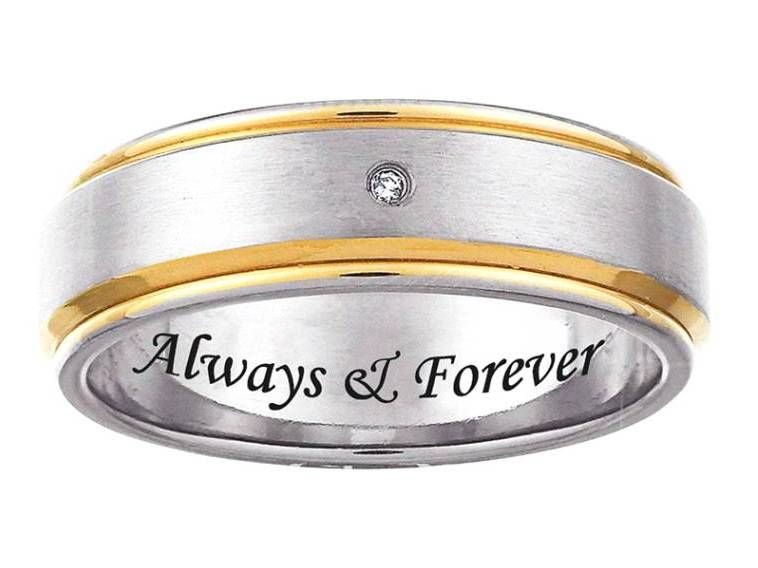 Wedding Ring Engraving Always And Forever Decorate Your Ring With