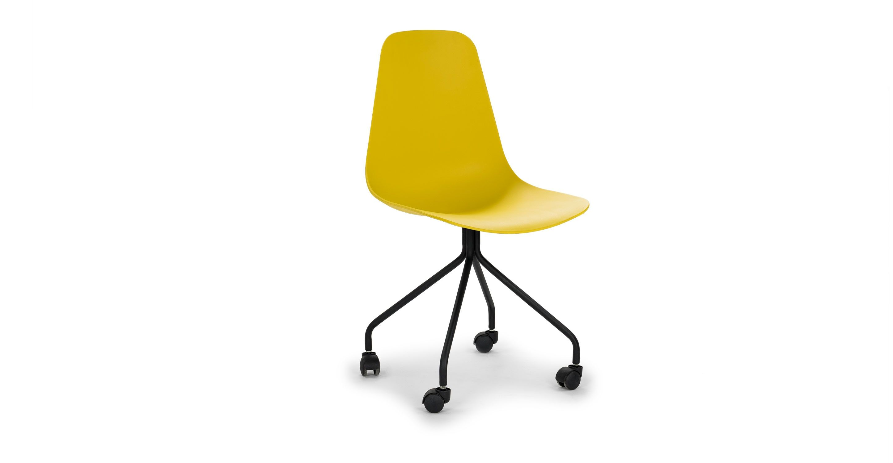 Svelti Daisy Yellow Office Chair Contemporary Office Chairs