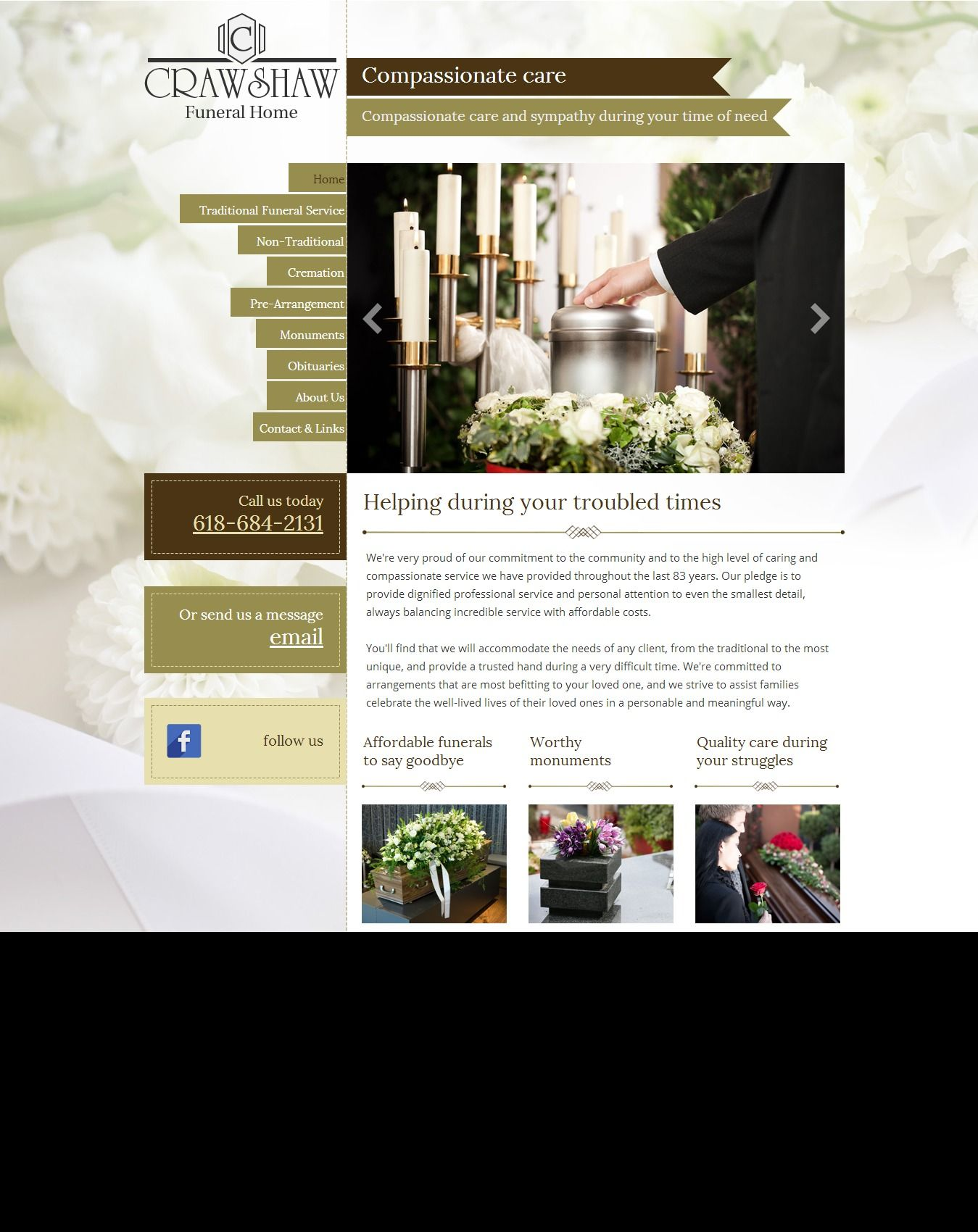 funeral home and services website template | web templates | pinterest, Powerpoint templates