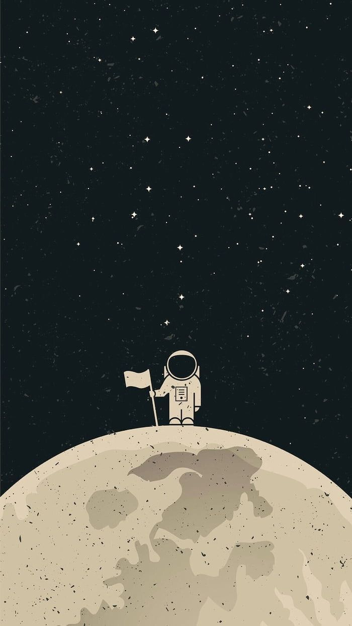 Whatever Phone I Have This Is My Wallpaper Hope You Like It Natalia Mercado Astronaut Wallpaper Minimalist Wallpaper Best Iphone Wallpapers