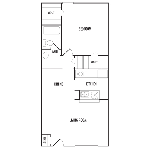 Rectangular Home Layout 700 Sq Ft Google Search House Layouts Layout Floor Plans