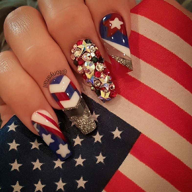 50 Kickass 4th July Nail Art Ideas To Help You Show Off Your