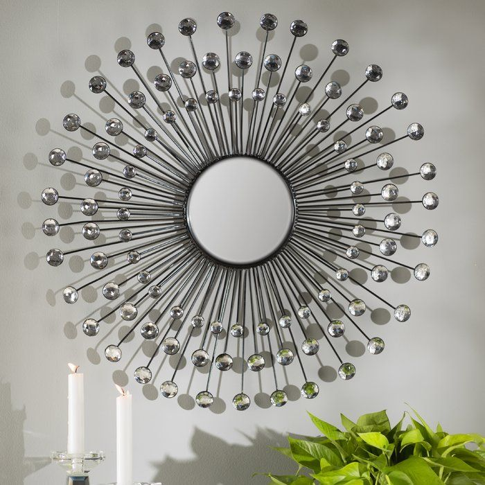 Mirrors Can Be More Than Just A Simple Place To Check Your Outfit In The Morning With A Dazzling Design This Chic M Mirror Wall Starburst Wall Decor Sunburst