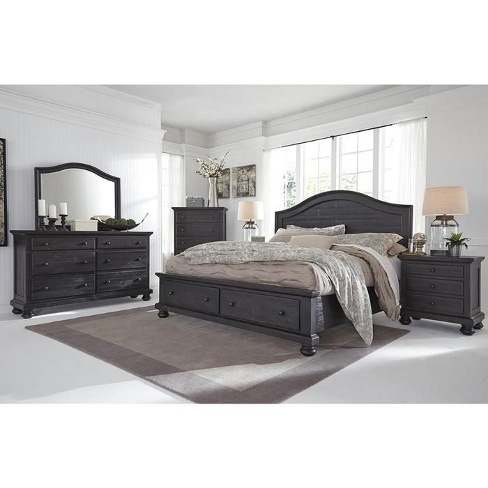 Sharlowe 4-Piece Queen Bedroom Set in Charcoal | Nebraska ...