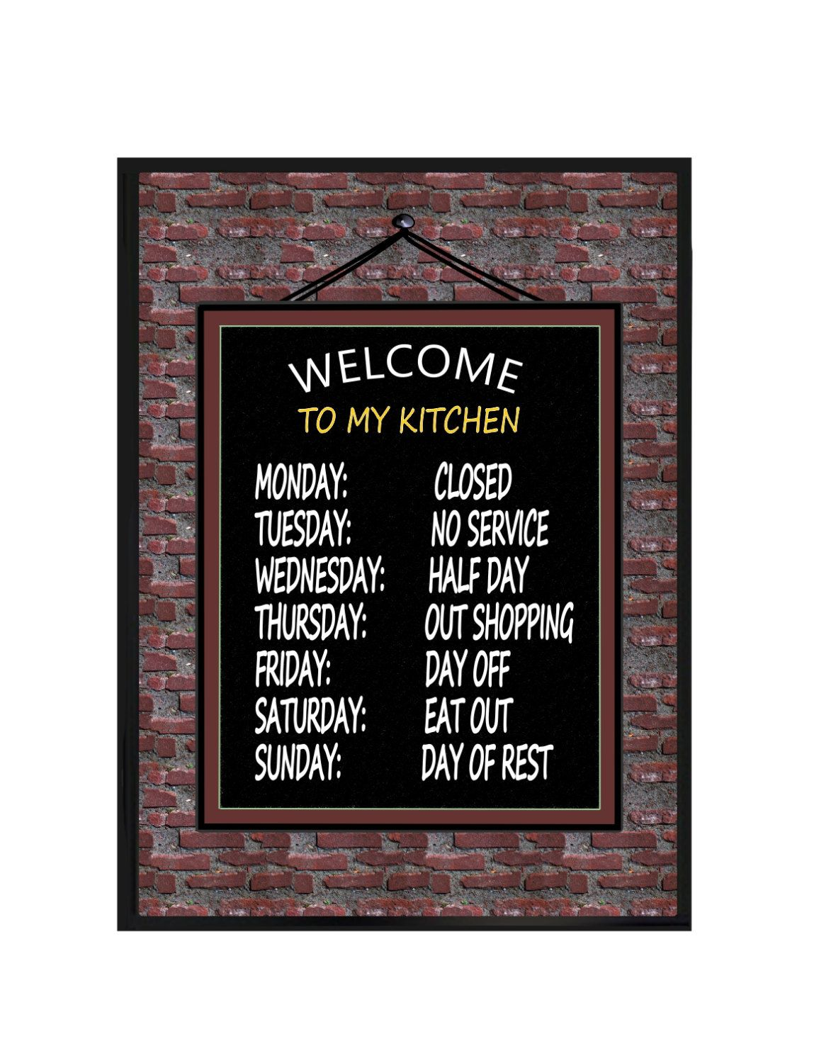 Welcome To My Kitchen Wall Plaque 8 X 10 Decor Funny Quotes Hanging Sign By Photogiftskalucaart On Etsy