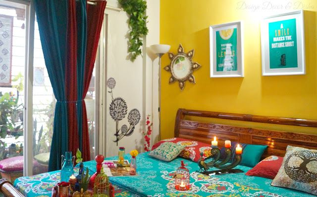 Home Tour Anushikha Dwivedi Indian Bedroom Decor Turquoise