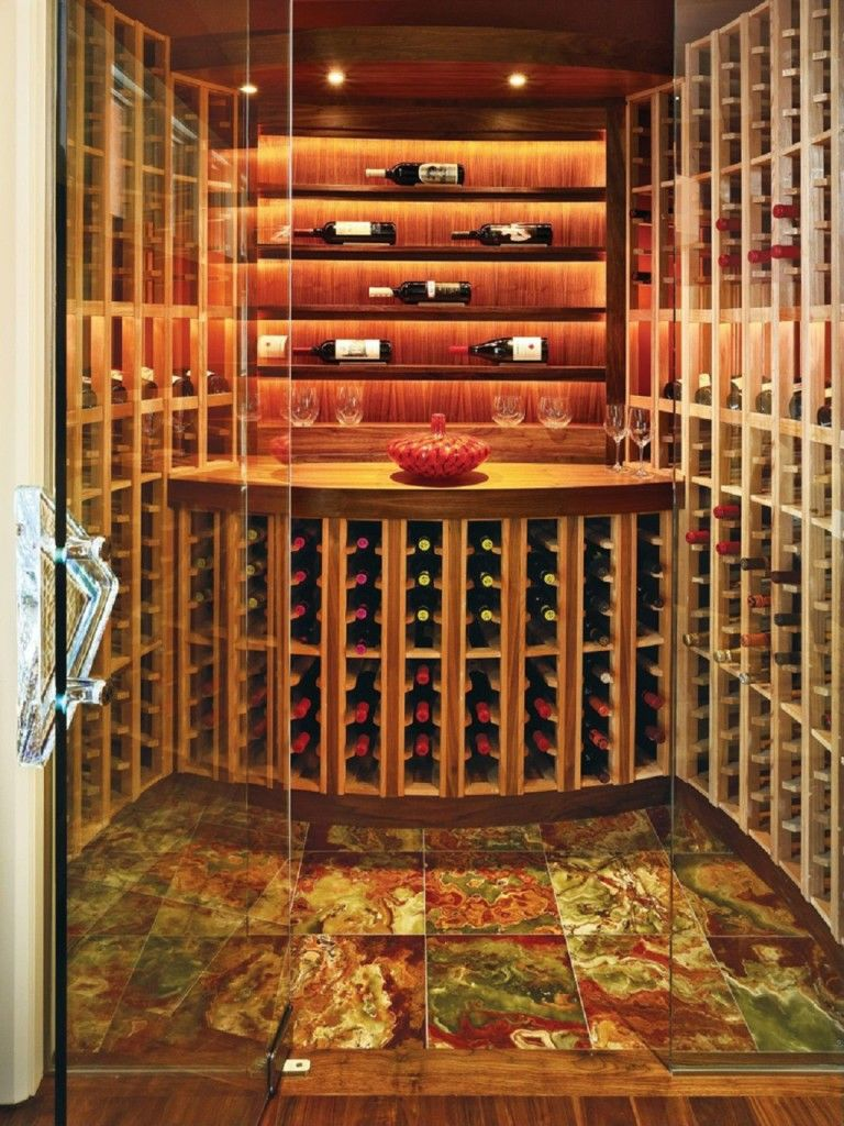Wine cellars by aventetile on pinterest wine cellar for Home wine cellar designs