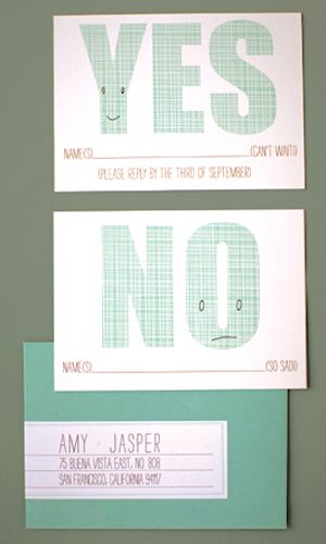 The Cutest RSVP Cards Wedding Response cards and Party wedding