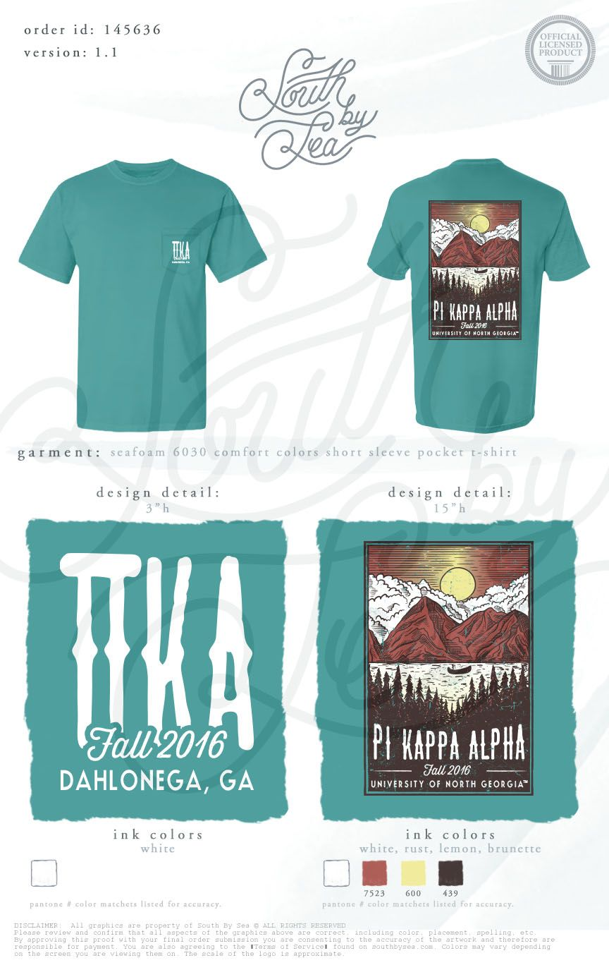 Pi Kappa Alpha | Pike | Fall Recruitment | Fall Rush | Outdoors Design |  Vintage Design | South By Sea | Greek Tee Shirts | Greek Tank Tops | Custom  Apparel ...