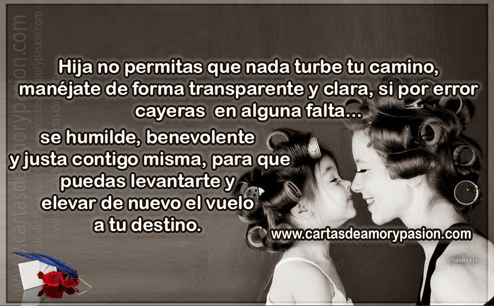 Carta De Amor Para Mi Hija Soy Mama Miss You Mom Frases Y Daughter
