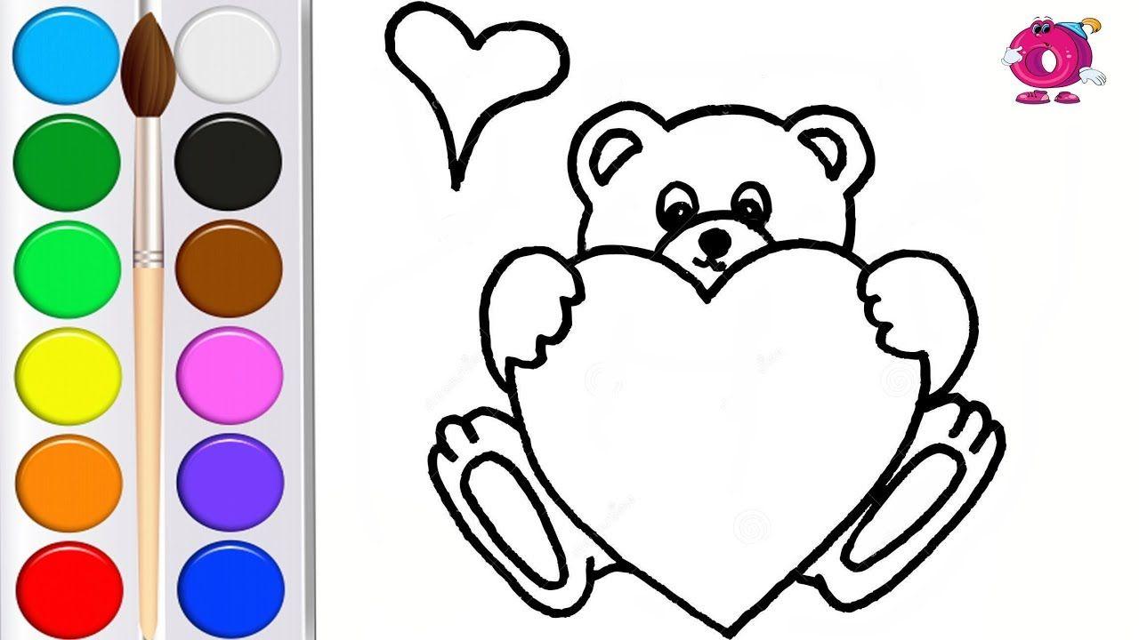 Раскраска для детей КРАСИВОЕ СЕРДЦЕ мультик - раскраска ...