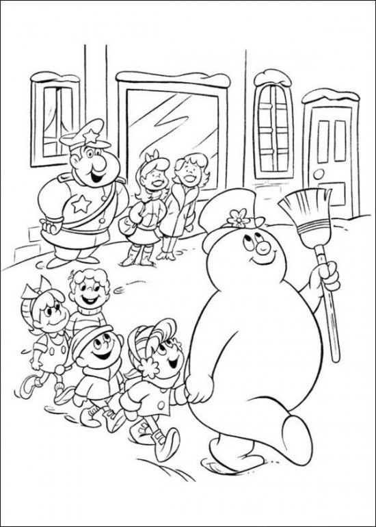 printable coloring pages of frosty the snowman picture 9