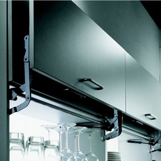 Hafele Swing Up Fitting For Assembly On Wood Doors Or Aluminum Frames For Microwave Or Upper Cabinets Kitchensource Upper Cabinets Wood Cabinet Doors Hafele