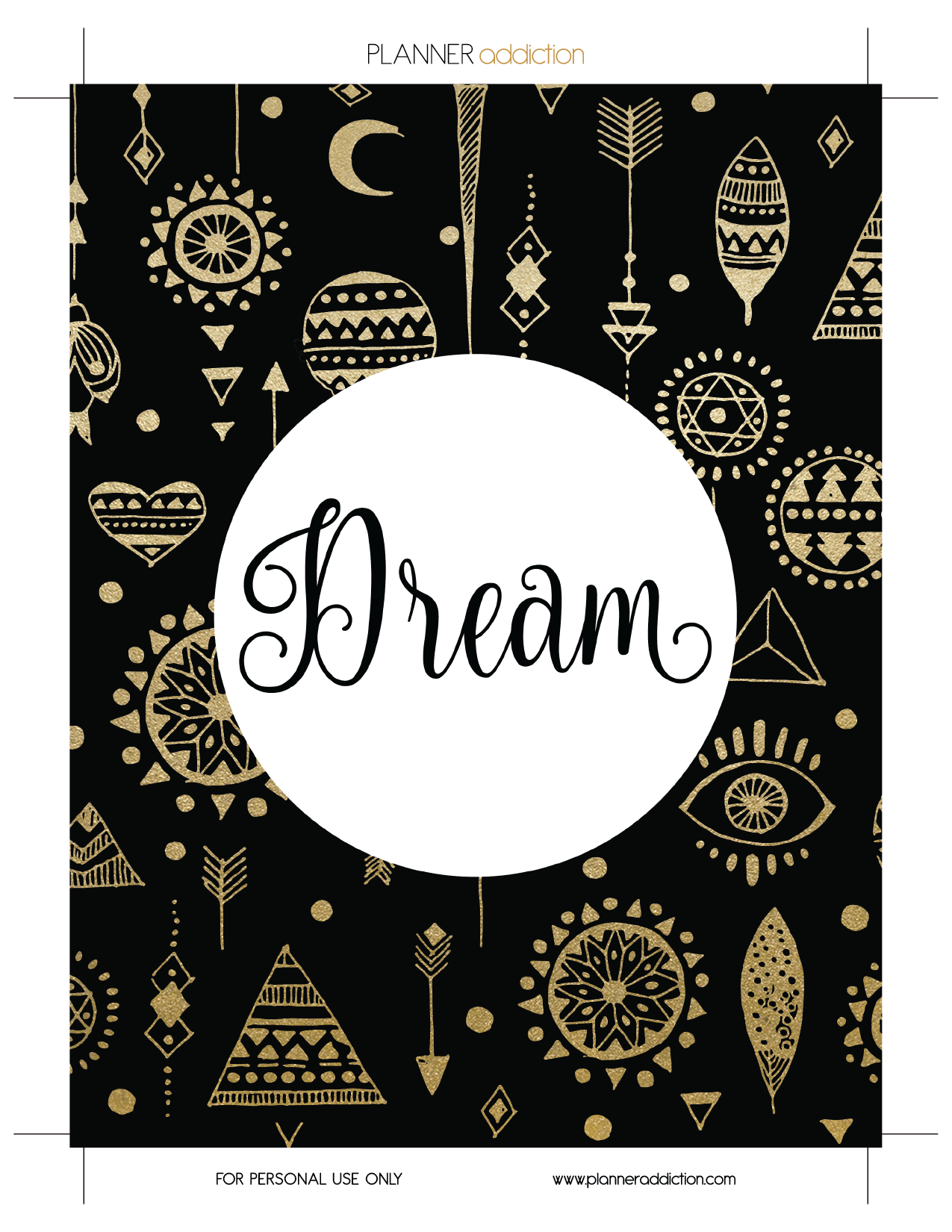 Free Printable Insert For Happy Planner Dream August Or Dream