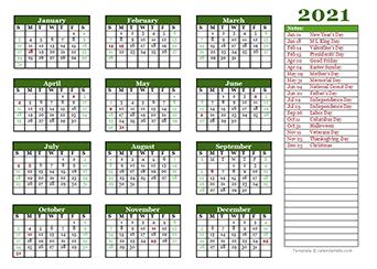 Images of 2021 Calendar Template Calendarlabs