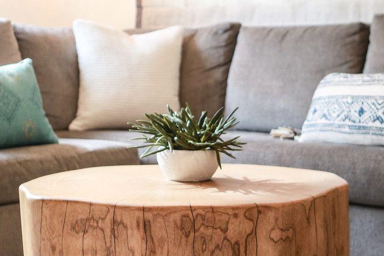 Custom tree stump cocktail table kristahoffman