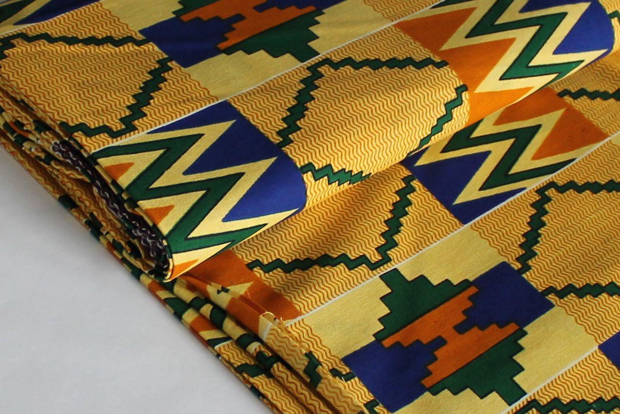 Afrikanischer Kente Stoff Sand Meterware Auf Gpantix Ch Zu
