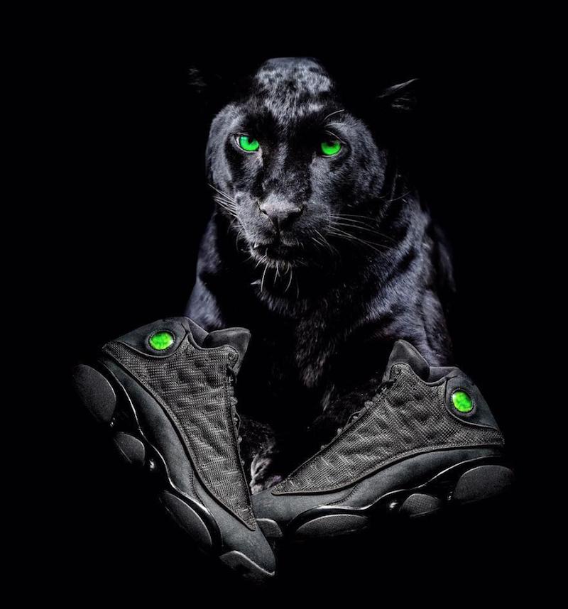 jordan 13 cat black