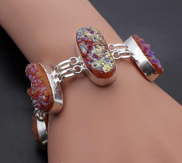 Wild Fire Titanium .925 Sterling Silver Chain Bracelet