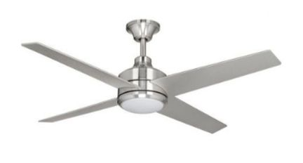 Mercer modern silver nickel ceiling fan home depot home design mercer modern silver nickel ceiling fan home depot aloadofball