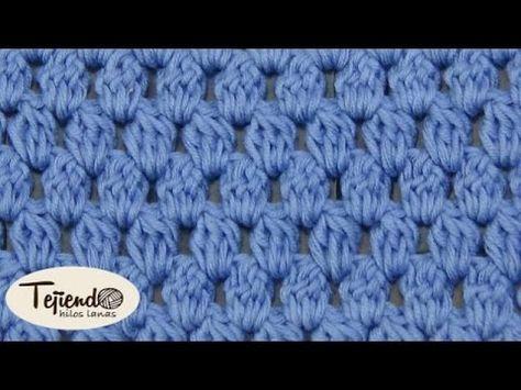 Punto piña, punto garbanzo a ganchillo - YouTube   puntos de crochet ...
