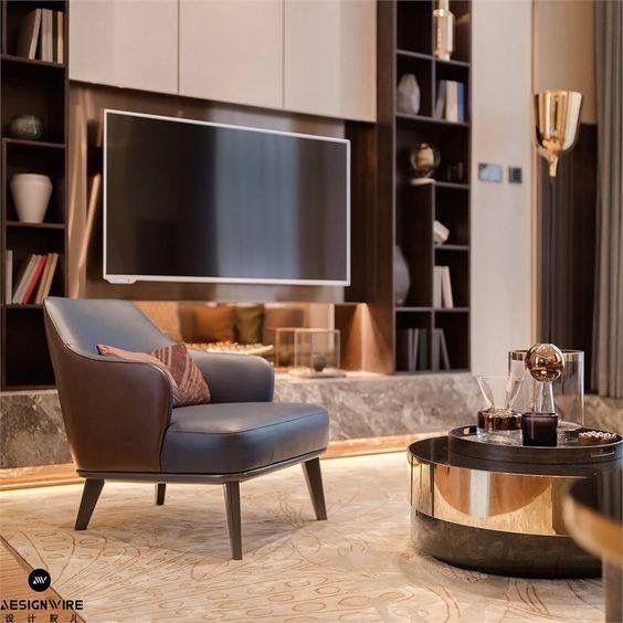 Pin de W Y en sitting room 客厅 Pinterest - bibliotecas modernas en casa