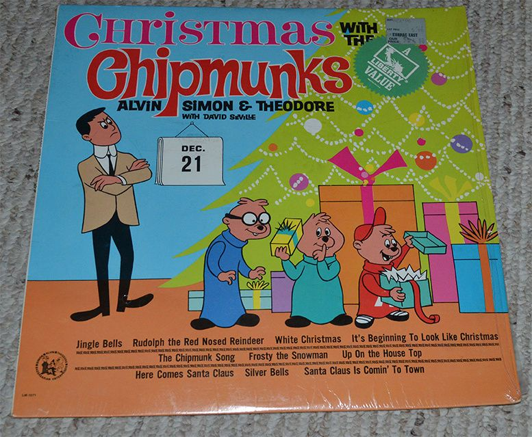 Christmas with the Chipmunks Liberty LRP-3256 David Seville Alvin ...