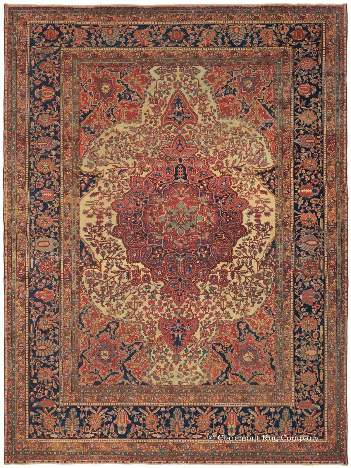 Old Ferahan Sarouk Antique Rug In Pastel Colors Rugs Antique Oriental Rugs Flying Carpet