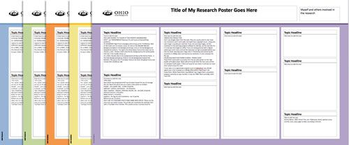 Ohio University Research Poster Templates In A Variety Of Colors