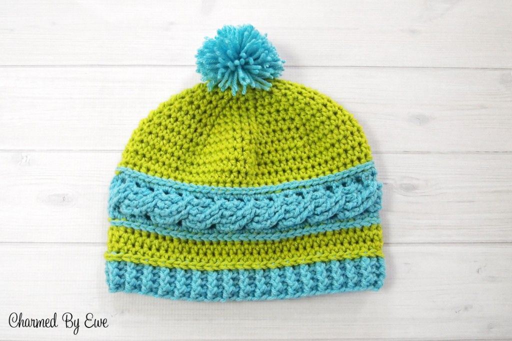 Free Crochet Pattern: Uptown Cable Beanie by Charmed By Ewe ...