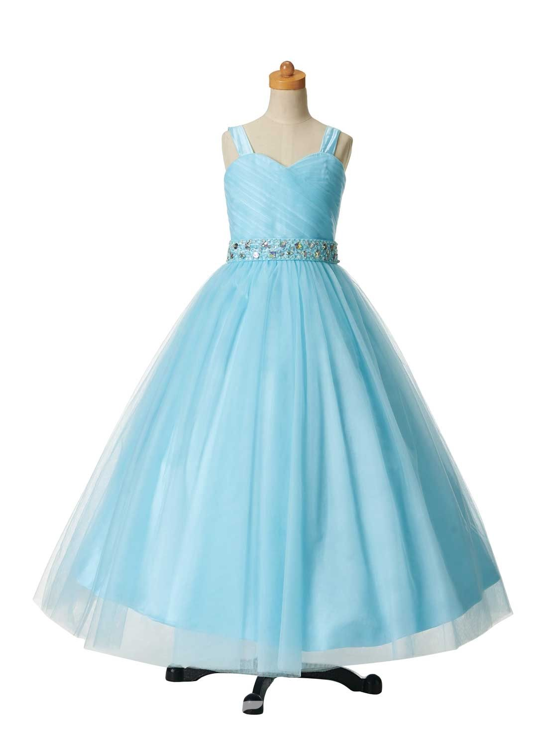 Ericdress Beautiful Beaded Straps Ball Gown Flower Girl Party Dress ...