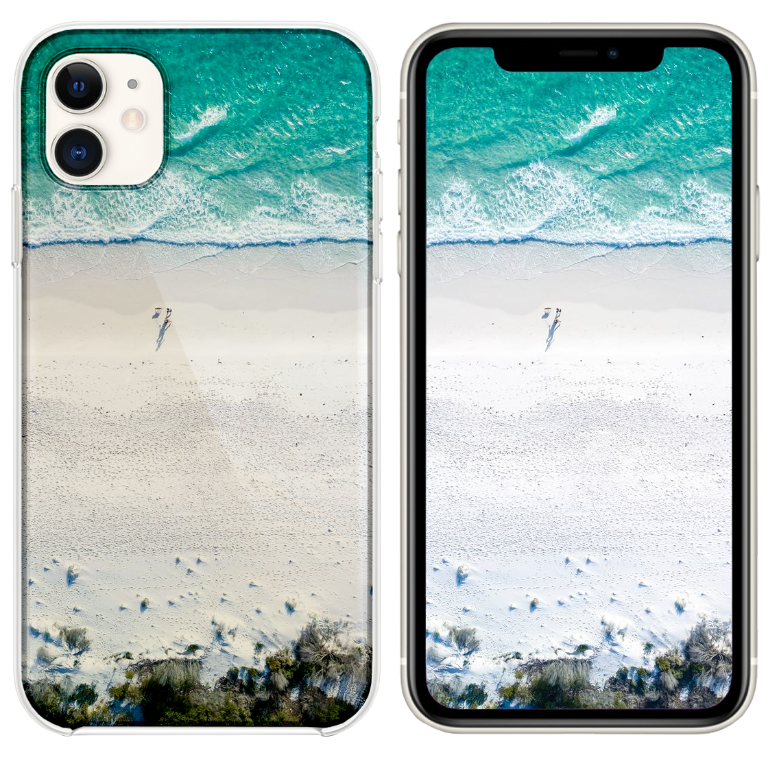 Two People On Beach During Daytime Iphone 11 Case And Wallpaper Iphone 11 Iphone Wallpaper