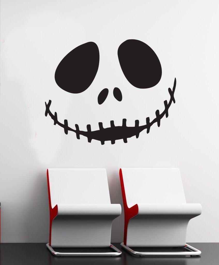 Wall Art sticker decal vinyl 0114 Jack Skellington, Nightmare before ...