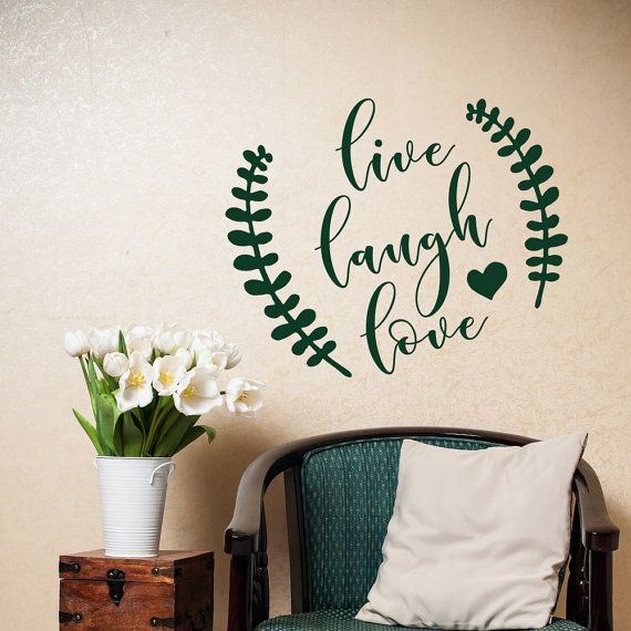 Live Laugh Love Wall Decal  Family Wall Decal  Wall by HomyVinyl