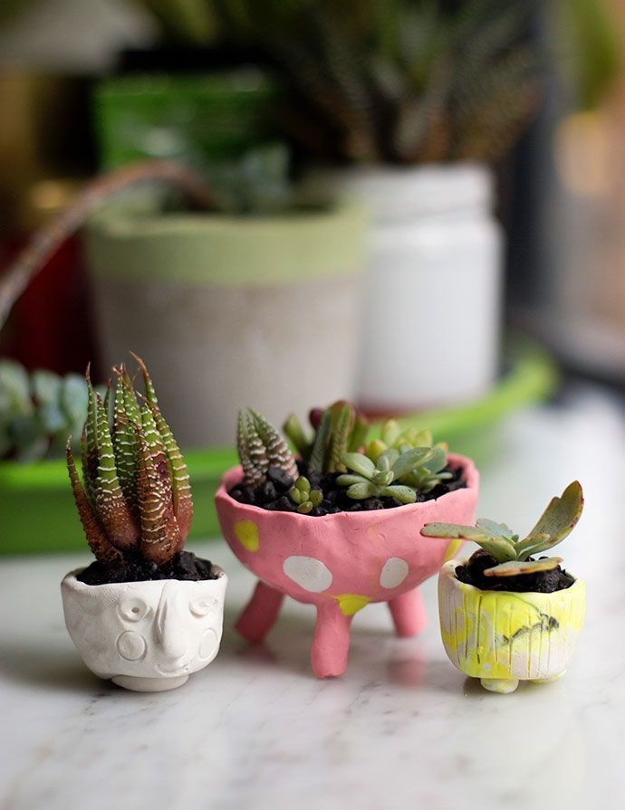 Polymer Clay Mini Planters | My Poppet Makes